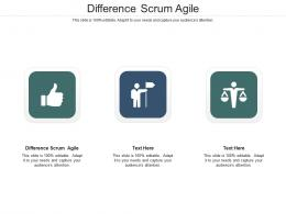 Difference Scrum Agile Ppt Powerpoint Presentation Ideas Layouts Cpb