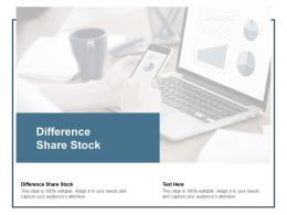 Difference Share Stock Ppt Powerpoint Presentation Ideas Designs Cpb