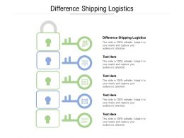 Difference Shipping Logistics Ppt Powerpoint Presentation Outline Visual Aids Cpb