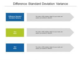 Difference Standard Deviation Variance Ppt Powerpoint Presentation Model Slides Cpb