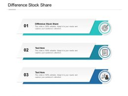 Difference Stock Share Ppt Powerpoint Presentation Outline Example File Cpb