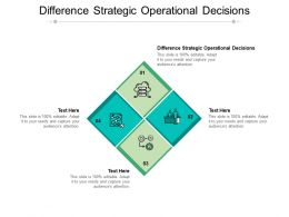 Difference Strategic Operational Decisions Ppt Powerpoint Presentation Ideas Cpb