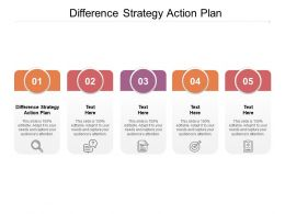 Difference Strategy Action Plan Ppt Powerpoint Presentation Show Samples Cpb