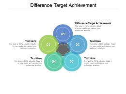 Difference Target Achievement Ppt Powerpoint Presentation Rules Cpb