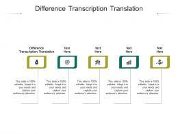 Difference Transcription Translation Ppt Powerpoint Presentation File Graphics Template Cpb