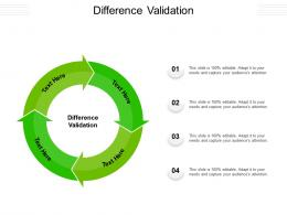 Difference Validation Ppt Powerpoint Presentation File Portfolio Cpb