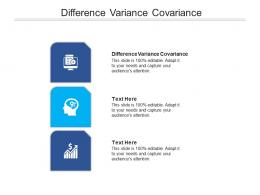 Difference Variance Covariance Ppt Powerpoint Presentation Infographics Vector Cpb