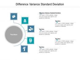 Difference Variance Standard Deviation Ppt Powerpoint Presentation Summary Smartart Cpb
