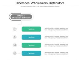 Difference Wholesalers Distributors Ppt Powerpoint Presentation Model Images Cpb