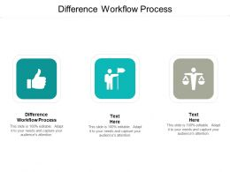 Difference Workflow Process Ppt Powerpoint Presentation Pictures Ideas Cpb