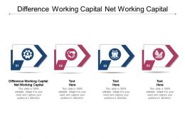 Difference Working Capital Net Working Capital Ppt Powerpoint Presentation Visual Aids Pictures Cpb