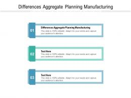 Differences Aggregate Planning Manufacturing Ppt Powerpoint Presentation Model Designs Download Cpb