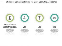 Differences Between Bottom Up Top Down Estimating Approaches Ppt Powerpoint Microsoft Cpb