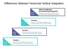 Differences Between Horizontal Vertical Integration Ppt PowerPoint Presentation Gallery Summary Cpb