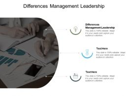 Differences Management Leadership Ppt Powerpoint Presentation Outline Clipart Cpb