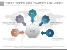 Different Account Planning Sales Powerpoint Slide Designs