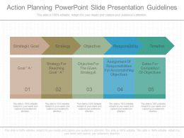 Different Action Planning Powerpoint Slide Presentation Guidelines