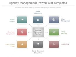 Different Agency Management Powerpoint Templates