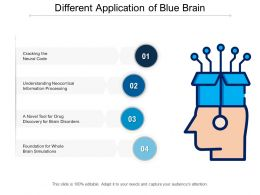 Different Application Of Blue Brain