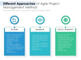 Different Approaches Of Agile Project Management Method