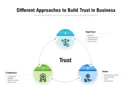 Different Approaches To Build Trust In Business