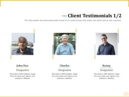 Different Aspects Of Retirement Planning Client Testimonials Team Work Ppt Powerpoint Images