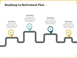 Different Aspects Of Retirement Planning Roadmap To Retirement Plan Ppt Visual Aids