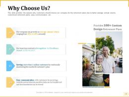 Different Aspects Of Retirement Planning Why Choose Us Ppt Powerpoint Layouts Rules