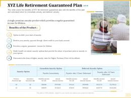 Different Aspects Of Retirement Planning XYZ Life Retirement Guaranteed Plan Ppt Gridlines