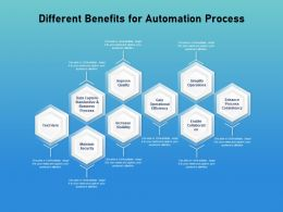 Different Benefits For Automation Process