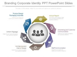 Different Branding Corporate Identity Ppt Powerpoint Slides