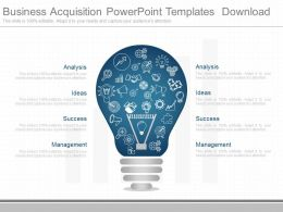 Different Business Acquisition Powerpoint Templates Download