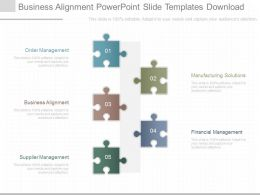 Different Business Alignment Powerpoint Slide Templates Download