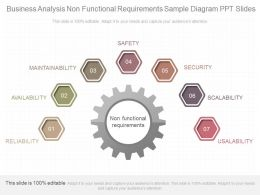 Different Business Analysis Non Functional Requirements Sample Diagram Ppt Slides