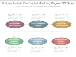 Different Business Analysis Planning And Monitoring Diagram Ppt Slides