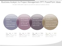 Different Business Analyst Vs Project Management Ppt Powerpoint Ideas