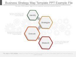 Different Business Strategy Map Template Ppt Example File