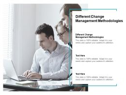 Different Change Management Methodologies Ppt Powerpoint Presentation Slides Cpb