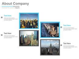 Different Cities Introduction Portfolio Powerpoint Slides