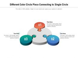Different Color Circle Piece Connecting To Single Circle