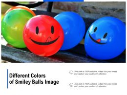 Different Colors Of Smiley Balls Image