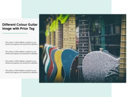 Different Colour Guitar Image With Price Tag