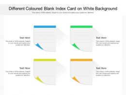 Different Coloured Blank Index Card On White Background