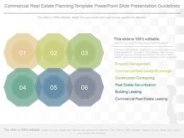Different Commercial Real Estate Planning Template Powerpoint Slide Presentation Guidelines