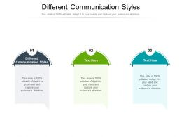 Different Communication Styles Ppt Powerpoint Presentation Infographic Template Graphics Design Cpb