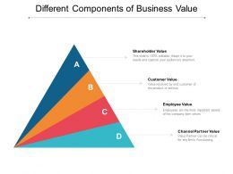 Different Components Of Business Value