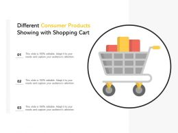 Different Consumer Products Showing With Shopping Cart