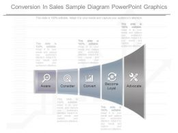 Different Conversion In Sales Sample Diagram Powerpoint Graphics