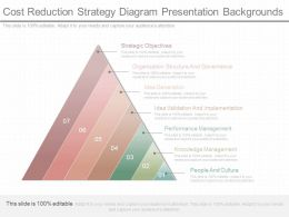 Different Cost Reduction Strategy Diagram Presentation Backgrounds