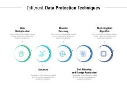 Different Data Protection Techniques